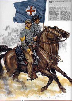 """8th Texas Cavalary """"Terry`s Texas Rangers"""" C.S.A."""