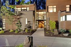 1. Create Drama: The most critical aspect missing from the average bungalow or a ranch is a little bit of drama.Gates, front doors, path lights, landscaping and creativity create a dramatic home entry