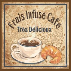 French Coffee-jp3112 Painting by Jean Plout