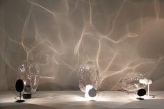 """Ripple"" Fluctuation of light through blown glass. Different for each glass … – World of Light Luminaire Design, Lamp Design, Interior Lighting, Lighting Design, Instalation Art, Interior And Exterior, Interior Design, Zaha Hadid, Stage Design"