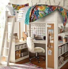 Teen Girl Bedrooms - Cozy yet super cool teen girl room tactic and tips. Hungry for more eye popping teen room decor info simply pop by the pin to devour the pin suggestion 4310617654 this instant Teenage Girl Bedroom Designs, Teen Girl Bedrooms, Bedroom Decor For Teen Girls Dream Rooms, Small Bedroom Ideas For Teens, Loft Bedrooms, Cabin Beds For Teenagers, Diy Storage Ideas For Small Bedrooms, Loft Beds For Teens, Bedroom Ideas For Teen Girls Small