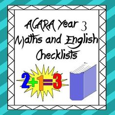 Australian Curriculum Year 3 Maths and English ChecklistsThis download features the Year 3 Maths and English Content Descriptors put into check-list format. The four blank columns are unlabelled so you can choose how to use it, I use one for each term and at the completion of the term I mark off which week/s I addressed each descriptor and to what degree.