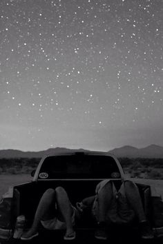 fill a truck with covers and pillows and watch the stars