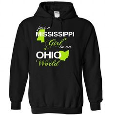 (MSJustXanhChuoi001) Just A Mississippi Girl In A Ohio  - #t shirt company #white hoodies. GET YOURS => https://www.sunfrog.com/Valentines/-28MSJustXanhChuoi001-29-Just-A-Mississippi-Girl-In-A-Ohio-World-Black-Hoodie.html?id=60505