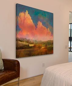 Look at this Pastoral Sunset Gallery-Wrapped Canvas on #zulily today!