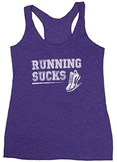 Running Sucks Women's Workout Tank Top (X-Large, Purple Rush)