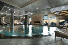 The vast spa at Hotel le K2 — Courchevel 1850, France, Luxury Ski Chalets, Ski Boutique