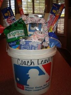 baseball coach end of yr gift baseball birthday baseball party baseball cupcakes