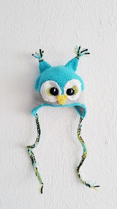 Owl hat owl crochet hat toddler hat baby hat photography