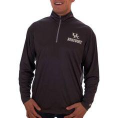 Russell Ncaa Kentucky Wildcats Men's Athletic Fit Black/ Storm Gray 1/4-Zip Fitness Jacket, Size: Medium