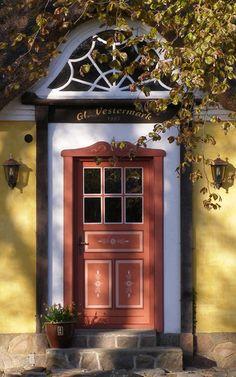 FARMHOUSE DOOR built in DENMARK  1911. A house is now built around door. It's no longer a farm.
