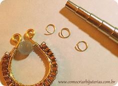 free wire wrap earring jewelry tutorial with leftover chain