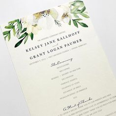 It's spring...it's nice outside...flowers should start popping up any day.  And on my computer flowers are everywhere!  I've been designing so many gorgeous floral inspired wedding invitations.  SO MANY!  What is great is that I can customize your invitation to match your inspiration of your florals.   And of course we'll bring the look into all your designed pieces like Kelsey & Grant's ceremony programs which I loved from last fall!  My favorite right now...ivory and white florals.  I just…