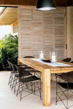 Sillas tejídas a mano Outdoor Furniture Sets, Outdoor Decor, Chic, Dining Table, Loft, Minho, Restoration Hardware, Home Decor, Outdoors