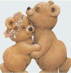teddy bears love....How sweet are these two