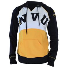 University Girls Apparel B & E Color Block Hoody. Now available for $40 at bestore.wvu.edu