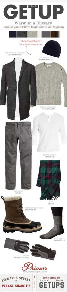Prime: Men's winter cold weather outfit