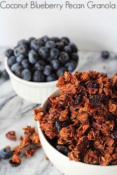 Homemade Coconut Blueberry Pecan Granola in 30 minutes! | www.joyfulhealthyeats.com
