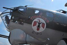"""B-17 Flying Fortress - """"Thunder Bird""""."""