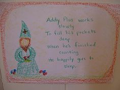 Waldorf ~ 1st grade ~ Math ~ Four Processes ~ Gnome Addy Plus ~ main lesson book