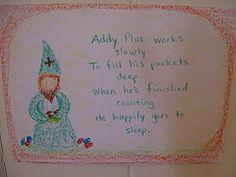 Waldorf ~ 1st grade ~ Math ~ Four Processes ~ Gnome Addy Plus ~ main lesson book