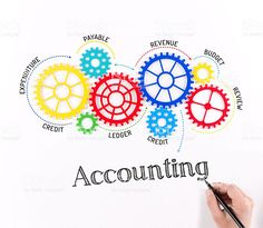 Accounting Mechanism with Gears royalty-free stock photo