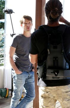 IT was tough for James Blunt to keep his sad face on while shooting the video for his single Don't Give Me Those Eyes on Sydney's northern beaches on Friday.