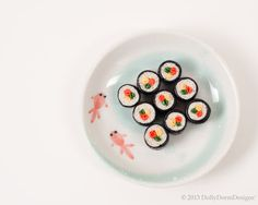 Vegetable Sushi  Food for your 18 American by DollyDormDesigns, $7.00
