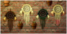 Bohemian Sims 4: Dream Snare Dream Catcher Decor