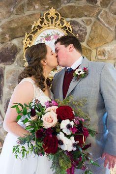 Burgundy and cream winter bouquet. Matt + Ryan // Married