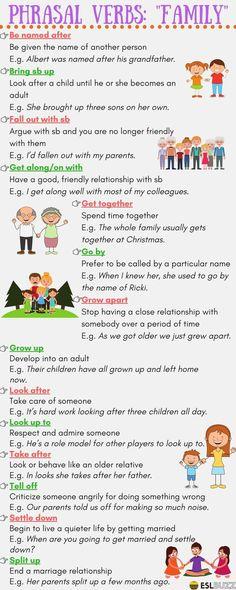 Phrasal Verbs: FAMILY