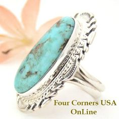 Four Corners USA Online Native American Artisan Jewelry - Elongated Dry Creek Turquoise Ring Size 9 Thomas Francisco American Indian Silver Jewelry NAR-1441, $279.00 (http://stores.fourcornersusaonline.com/elongated-dry-creek-turquoise-ring-size-9-thomas-francisco-american-indian-silver-jewelry-nar-1441/)