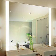 Badspiegel mit Beleuchtung Iona M313N2V: Design Spiegel für Badezimmer…