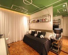 Dormitorio para joven adolescente futbolista