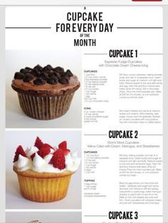 in Sweet Treats List on StumbleUpon Cupcake Flavors, Gourmet Cupcakes, Baking Cupcakes, Cupcake Recipes, Baking Recipes, Cookie Recipes, Cupcake Cakes, Dessert Recipes, Love Cupcakes