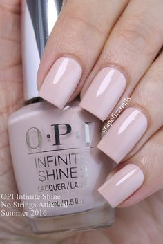 opi infinite shine No Strings Attached is a beautiful cool-toned nude