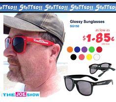 ASI's Joe Haley rocking our glossy shades! Thanks Joe! http://jetlinepromo.com/glossy-sunglasses.html