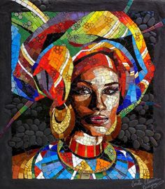 Risultati immagini per carole choucair oueijan mosaic - Glaube Mosaic Tile Art, Mosaic Artwork, Mosaic Crafts, Mosaic Projects, Mosaic Glass, Stained Glass, Mosaic Designs, Mosaic Patterns, African Women