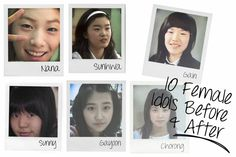 10 Female Idols Before and After | http://www.allkpop.com/article/2014/07/10-female-idols-before-and-after