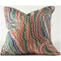 Watermark Blue, Green, White & Red 20x20 Pillow