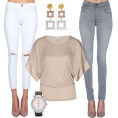 Марка iheart заслужила признание своим завидным вниманием к геометрии. Эта блуза с шелковыми оторочками на рукавах тому яркое подтверждение. Мы даже не знаем, с какими джинсами её лучше комбинировать, с белыми или серыми. Какой вариант вам больше нравится? (Кстати, такая же блуза есть у нас в JiST в темно-синем и сером цветах)  #summer #fashion #outfitidea: #stylish #iheart #blouse with #trendy #James #Jeans help to create #chic #outfit #мода #стиль #тренды #джинсы #блуза #модно #стильно…