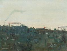 Kamil Lhoták   Garden, 1944   oil, carton, 25 × 33 cm Classic Paintings, Siena, Garden, Oil, Garten, Lawn And Garden, Gardens, Gardening, Outdoor