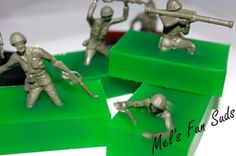 MILITARY PARTY FAVOR- set of 10 CLEAN INFANTRY soap favors | MelsFunSuds - Children's on ArtFire