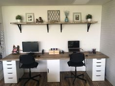 Study desk reclaimed timber - Home office design - Furniture Home Office Furniture Desk, Home Office Space, Home Office Design, Home Office Decor, Home Decor, Design Desk, Closet Office, Desk Office, Study Office