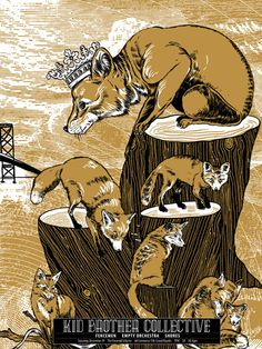 GigPosters.com - Shores - Empty Orchestra - Fencemen, The - Kid Brother Collective