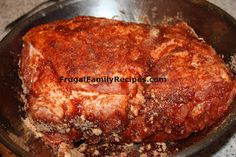 Boston Butt for pulled pork sandwiches