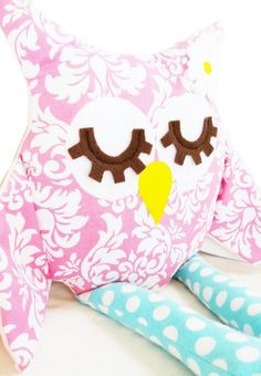 Owl Sewing Pattern  Owl Pillow Toy PDF di GandGPatterns su Etsy