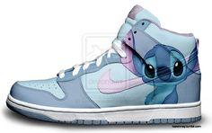 Custom Nike Dunks: Stitch by kaycunana.deviantart.com on @deviantART