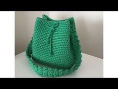 Penye ip ( Ribbon ip ) çanta yapımı 1.kısım - YouTube