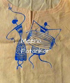nice Worli Painting, Fabric Painting, Indian Folk Art, Africa Art, Madhubani Painting, Paper Crafts Origami, Learn Art, Art N Craft, Arte Popular